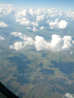 Claron Twitchell took this picture of clouds near Kansas City on flight to Denver on the way home to Salt Lake City from Kansas City