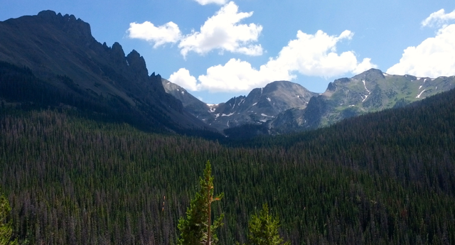 Rocky Mountains near Cameron Pass in Colorado
